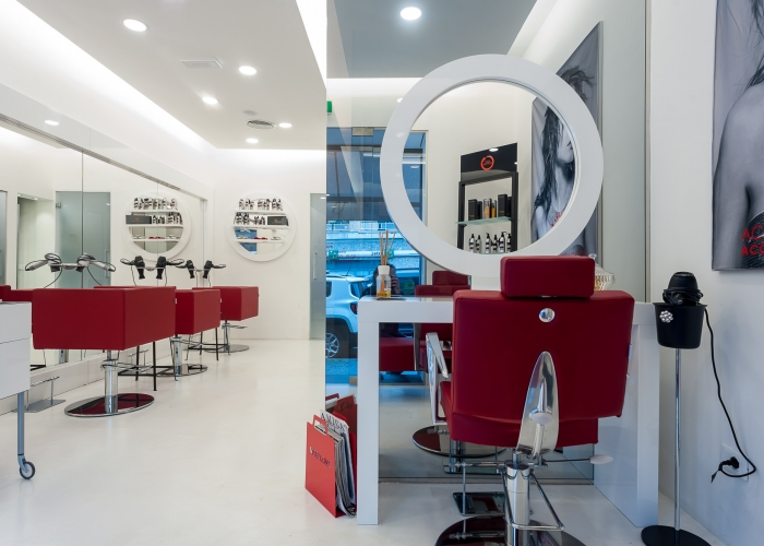 CCT Mobili arredamento parrucchiere_Av Caprera Sette Rosso